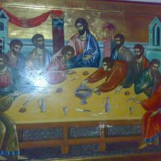 Icoana ;Cina Cea De Taina; pictata pe lemn