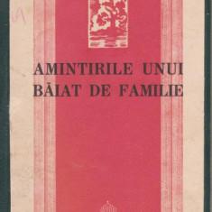 Ion Petrovici / Amintirile unui baiat de familie (editie 1938)