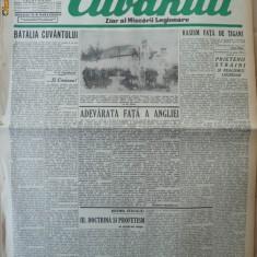 Cuvantul, ziar al miscarii legionare, 18 ianuarie 1941, 2 - Carte Editie princeps