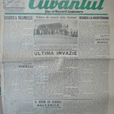 Cuvantul, ziar al miscarii legionare, 20 ianuarie 1941, 2 - Carte Editie princeps