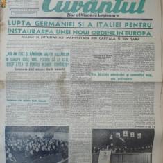 Cuvantul, ziar al miscarii legionare, 21 ianuarie 1941 - Carte Editie princeps