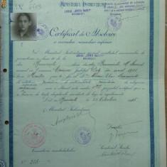 Certificat de absolvire, Liceul Spiru Haret Bucuresti, 1935 - Diploma/Certificat