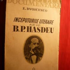 E. Dvoicenco - Inceputurile Literare ale lui B.P.HASDEU- 1936 - Eseu