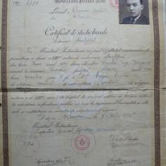 Certificat de studii liceale , Liceul  Roman Voda , Roman ,1941