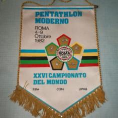 161 Fanion -Campionatul Mondial de Pentatlon -Roma 1982