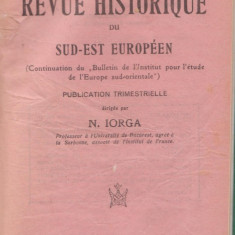 Revue Historique du Sud-Est Europeen (nr.1-3/1935,N.Iorga)