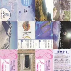 Romania, cartele telefonice lot 12 buc. diferite (11-1) G618 - Cartela telefonica romaneasca