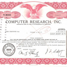 549 Actiuni -COMPUTER RESEARCH, INC. -seria PC 21361