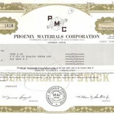 507 Actiuni -Phoenix Materials Corporation -seria S 1414