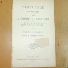 Statute Soc. imprumut,, Albina