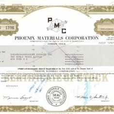 505 Actiuni -Phoenix Materials Corporation -seria S 1396