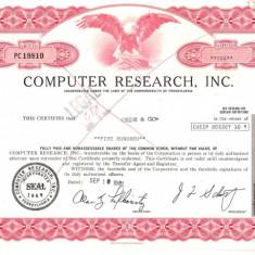 550 Actiuni -COMPUTER RESEARCH, INC. -seria PC 19810