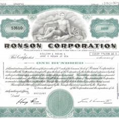 467 Actiuni - RONSON CORPORATION -seria 53610