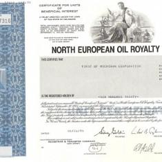 629 Actiuni -North European Oil Royalty Trust -seria SN 17316
