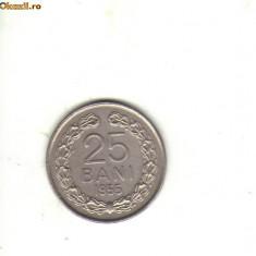 Bnk mnd romania 25 bani 1955 - Moneda Romania