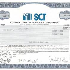 598 Actiuni -Systems & Computer Technology Corporation -seriaSC22224