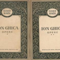 Ion Ghica - Opere - vol.1 si 2 - editie 1956 - Istorie