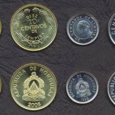 HONDURAS SET DE MONEDE 5, 10, 20, 50 Centavos 1999-2006 UNC, America Centrala si de Sud