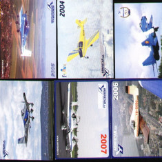 Set 6 calendare de buzunar, Aerostar, avioane