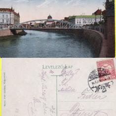 Oradea -sinagoga-iudaica - Carte Postala Crisana pana la 1904, Circulata, Printata