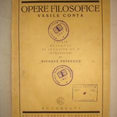 VASILE CONTA - OPERE FILOZOFICE {1922} - Carte Filosofie