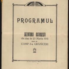 Programul Sezatorii Ostasesti din 23 martie 1941, Compania 6 Graniceri - Carte Editie princeps