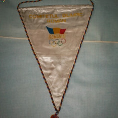 400 Fanion COMITETUL OLIMPIC ROMAN -ROMANIA
