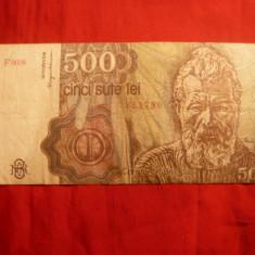 Bancnota 500 Lei, aprilie 1991, cal.Buna - Bancnota romaneasca