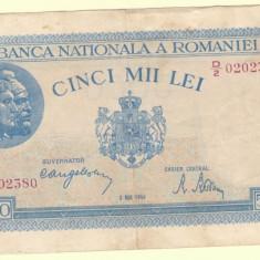 Bancnota 5000 lei 2 mai 1944 - Bancnota romaneasca