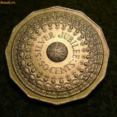 Brosa hand-made din moneda australia jubileul de argint - Brosa Fashion