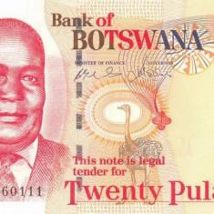 BOTSWANA █ bancnota █ 20 Pula █ 2006 █ P-27b █ UNC █ necirculata - bancnota africa