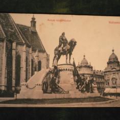 CLUJ - STATUIA LUI MATEI CORVIN - INCEPUT DE 1900