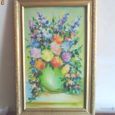 TABLOU CARTON-ULEI SEMNAT, Flori, Realism