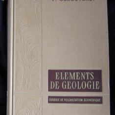 V Obroutchev Elements de geologie Moscova 1959