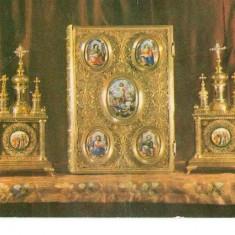 CP184-54 Manastirea Secu. Chivot si Evanghelie -circulata 1975