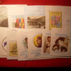 Colectie de intreguri postale ilustrate si circulate -205 buc.