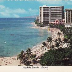 USA, SUA - Waikiki Beach-Hawaii, Circulata, Printata