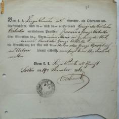 Document Bucovina, 1863 - Hartie cu Antet