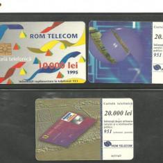 3 CARTELE TELEFONICE ROMANESTI - Cartela telefonica romaneasca