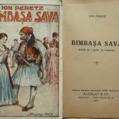Ion Peretz, Bimbasa Sava, 1918 - Carte Editie princeps