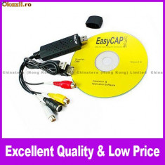 EasyCAP USB 2.0 Video DVD TV Audio Adaptor Capturare