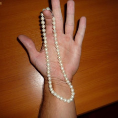 Colier din perle albe NATURALE