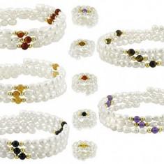 Bratara din perle albe naturale - Bratara perle