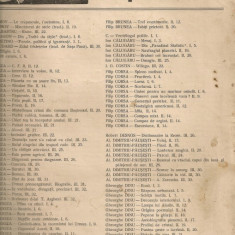 Unu - cuprinsul numerelor 1 - 32 pe anii 1928, 1929, 1930
