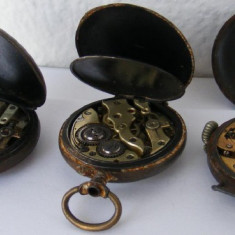 3 ceasuri vechi de buzunar defecte - de colectie - Ceas de buzunar