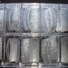 Set unghii false(tipsuri) cu sclipici