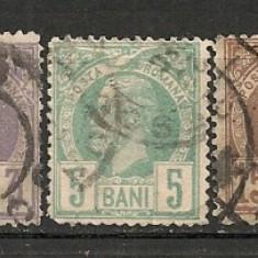 Romania.1885 Carol I-Vulturi hartie alba FD.16 - Timbre Romania