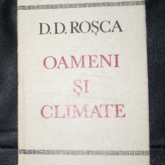 D D Rosca Oameni si climate Ed. Dacia 1971