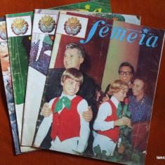 REVISTA FEMEIA  NR. 1 , 2 , 5 , 9 /  1974