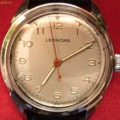 * Ceas Leonidas 1950 - original - Ceas barbatesc Tag Heuer, Mecanic-Manual, Analog, 1940 - 1969